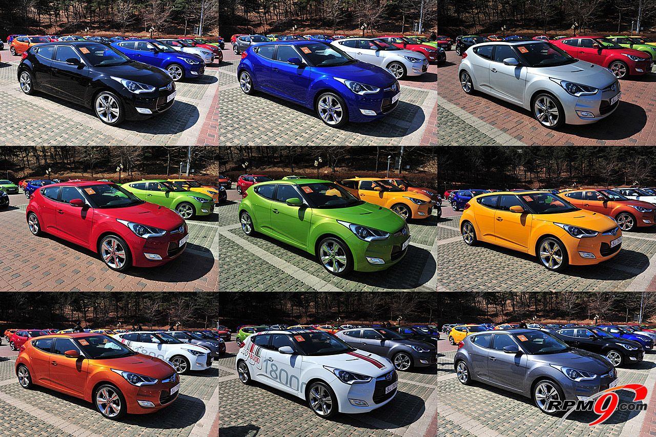 2012 Hyundai Veloster All 9 Colors Vivacious Veloster Pinterest
