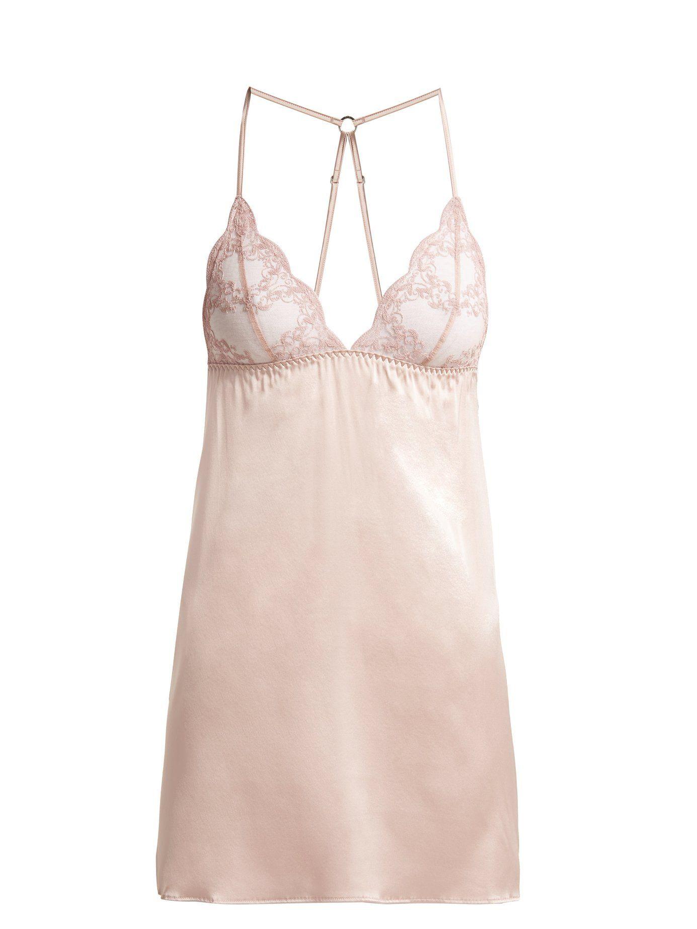 3aae28714003e Antoinette lace silk-blend slip | Fleur of England | MATCHESFASHION.COM AU