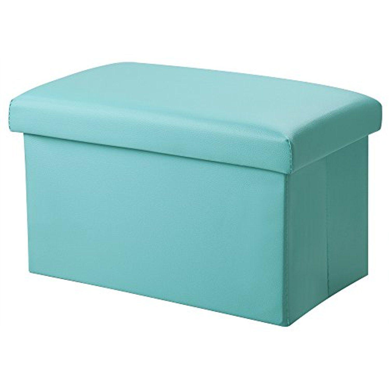 Stupendous Inoutdoorkit Fsl02 Foldable Leather Storage Ottoman Bench Machost Co Dining Chair Design Ideas Machostcouk