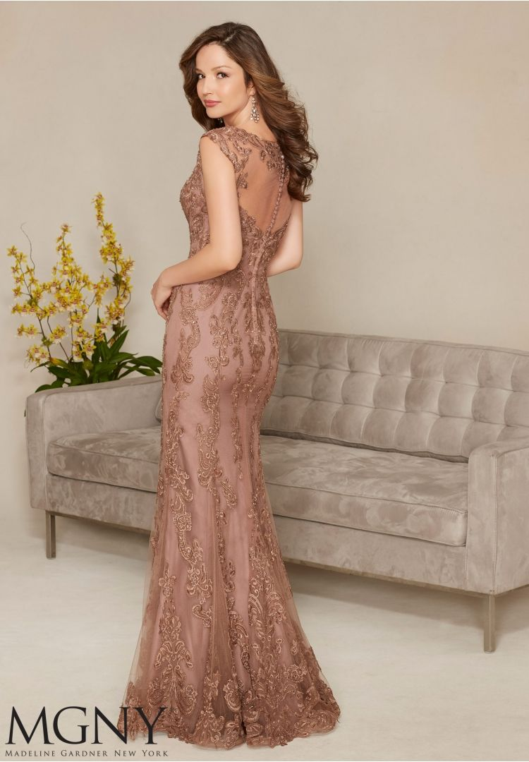 Embroidered Appliqués Evening Dress   Style 71314   Morilee