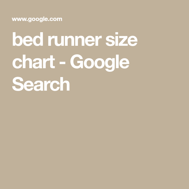bed runner size chart google search