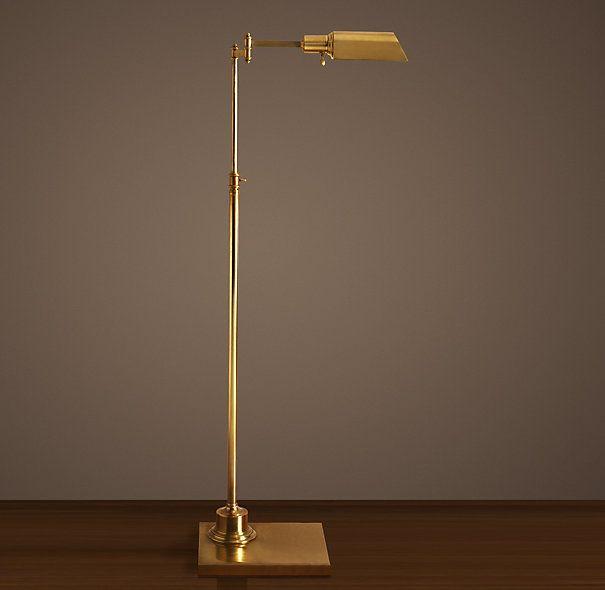 Library Task Floor Lamp Antique Brass Task Restoration Hardware Floor Lamp Library Lamp Lamp