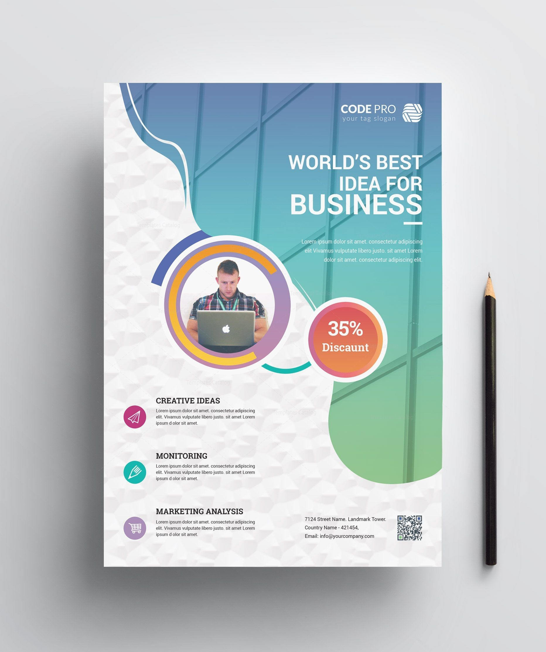 Best Business Flyer Design Brosur Buku Desain Poster