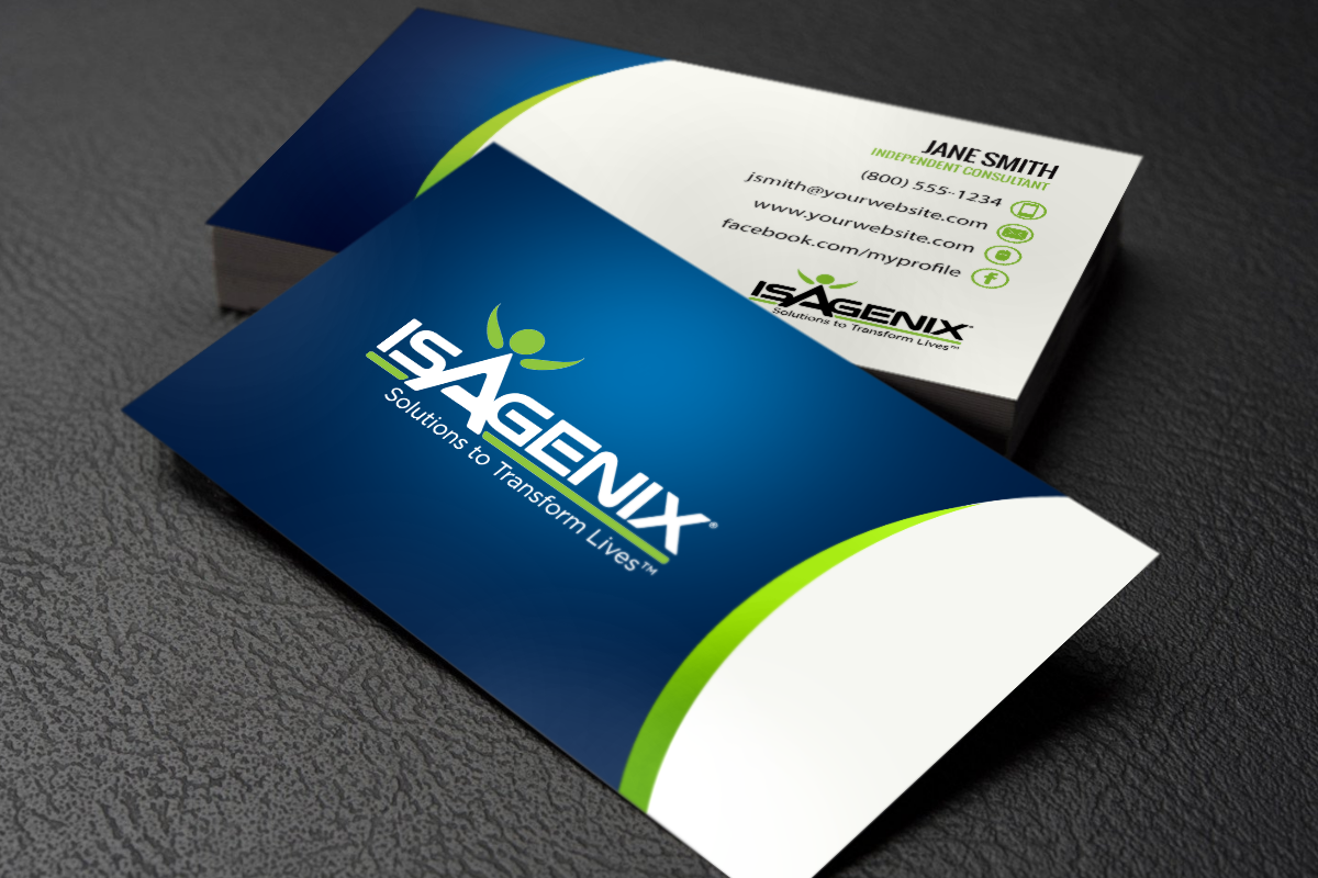 New Isagenix Business Cards Have Arrived Mlm Isagenix Print Paper Graphicdesign Busin Isagenix Business Cards Isagenix Business Printing Business Cards