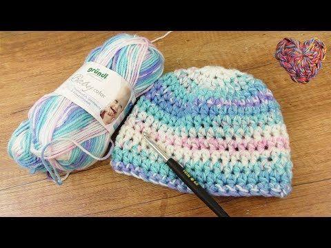 Baby Mütze Häkeln | Super niedliche Mütze für Mädchen & Jungs | Häklen für Anfänger | Baby Idee