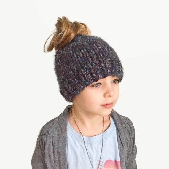 Messy Bun Beanie    Chunky Knit Hat Pattern This design has been featured  by Interweave Magazine and Lion Brand Yarn!!! Ever wondered how to rock a  messy ... a9cb1fb546d