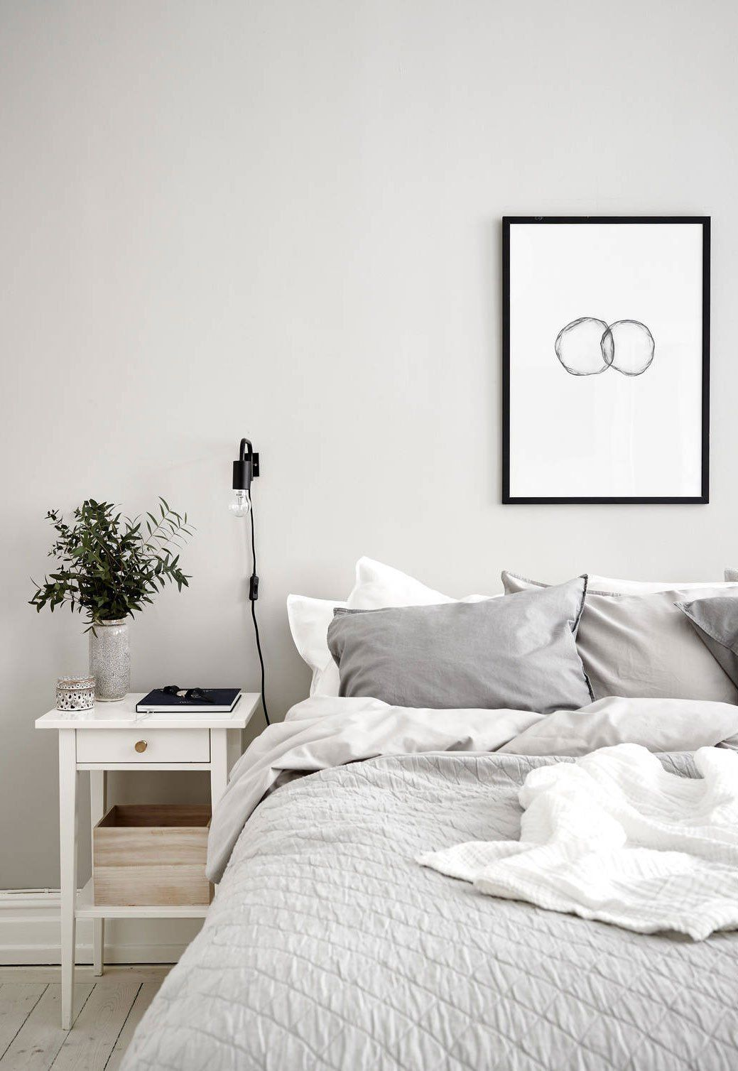 Home Tour Gray Bedroom Walls Light Gray Bedroom White Floorboards