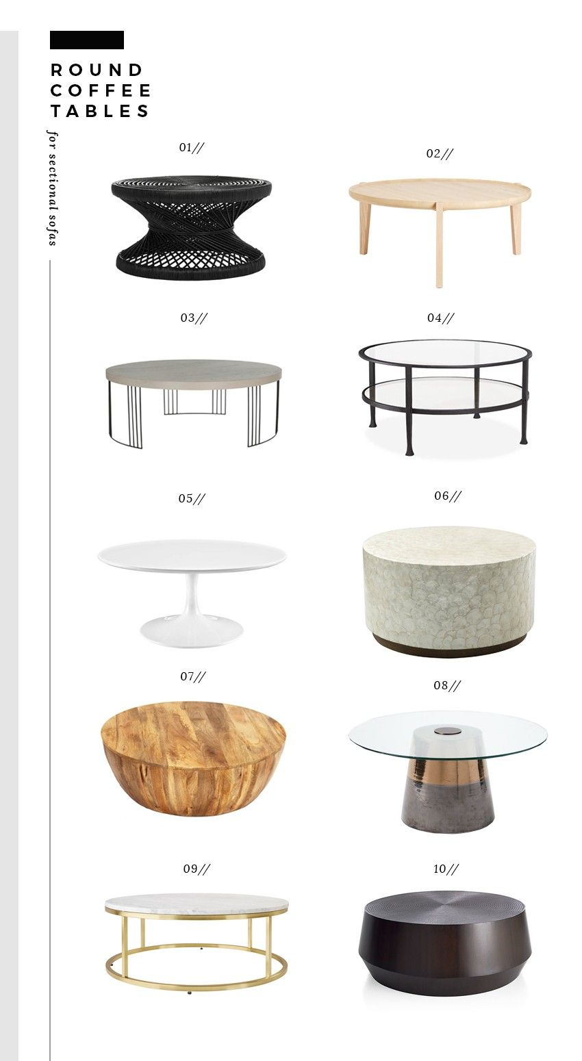 Pairing Sectional Sofas And Coffee Tables Room For Tuesday Coffee Table Sectional Coffee Table Round Coffee Table Best coffee table for sectional