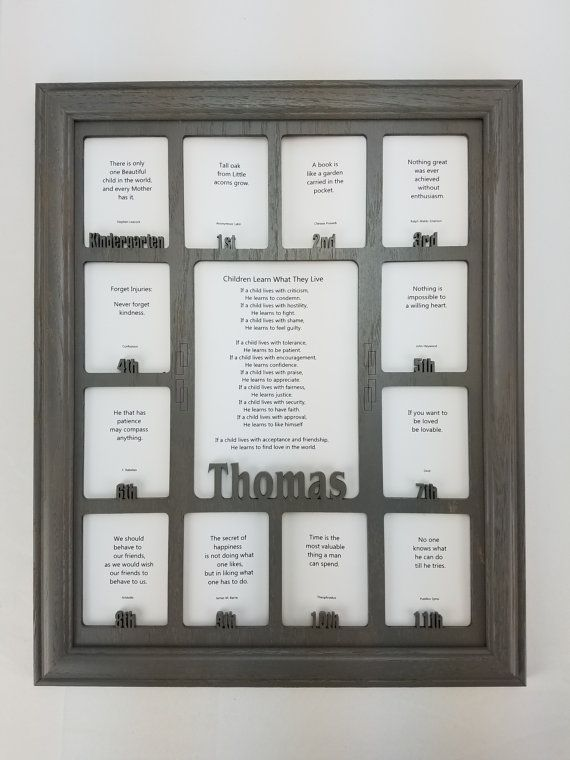 School Years Picture Frame - Personalized With Any Name - 10 Color ...