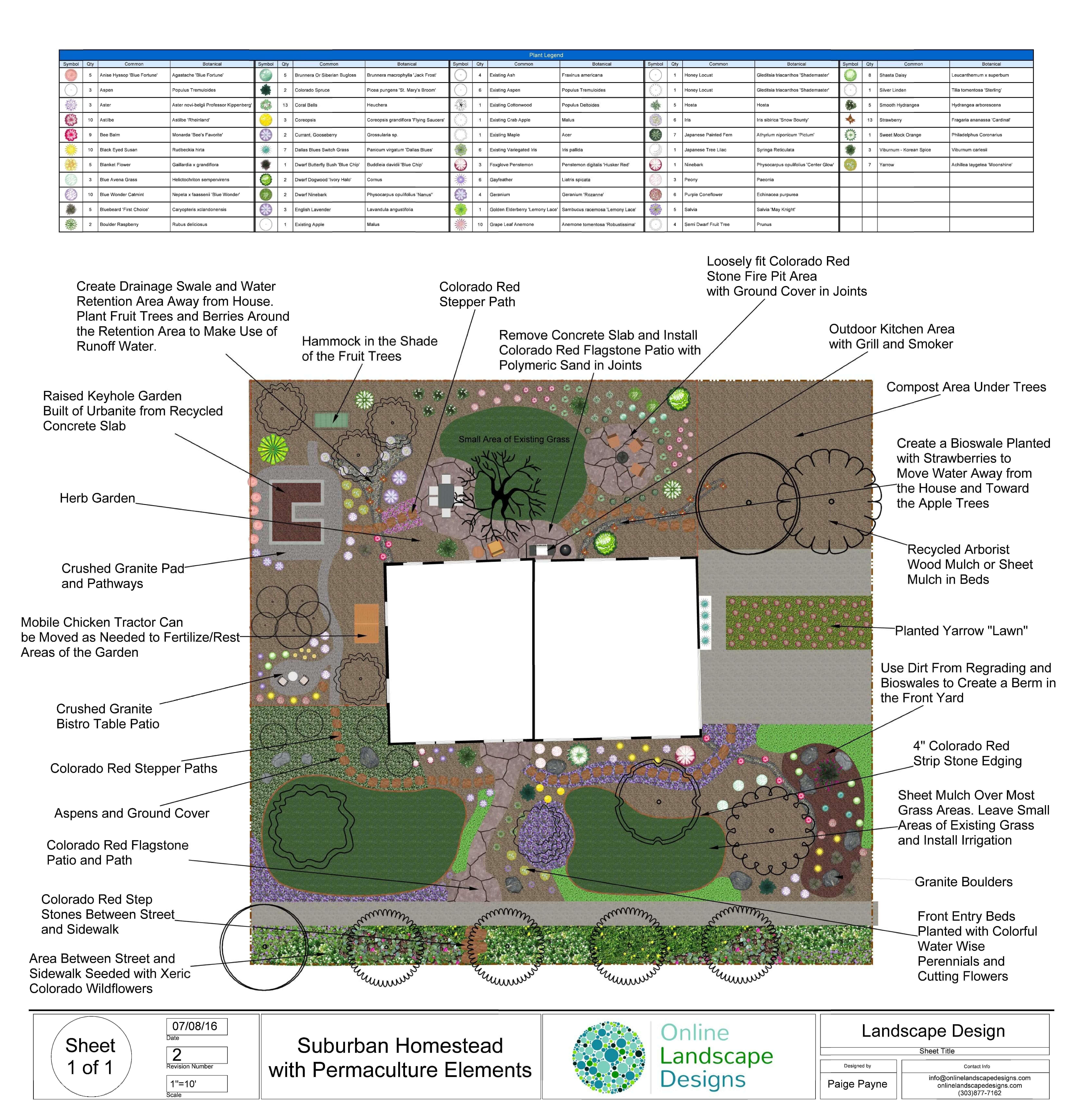 Permaculture Landscape Design Created By Online Landscape Designs Online Landscape Design Landscape Design Garden Design Images