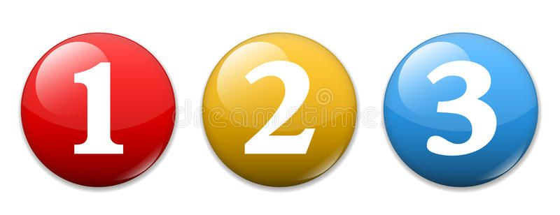 Numbers One Two Three 1 2 3 Icons Buttons Affiliate Numbers Icons Buttons Ad App Design Inspiration Stock Illustration First Second