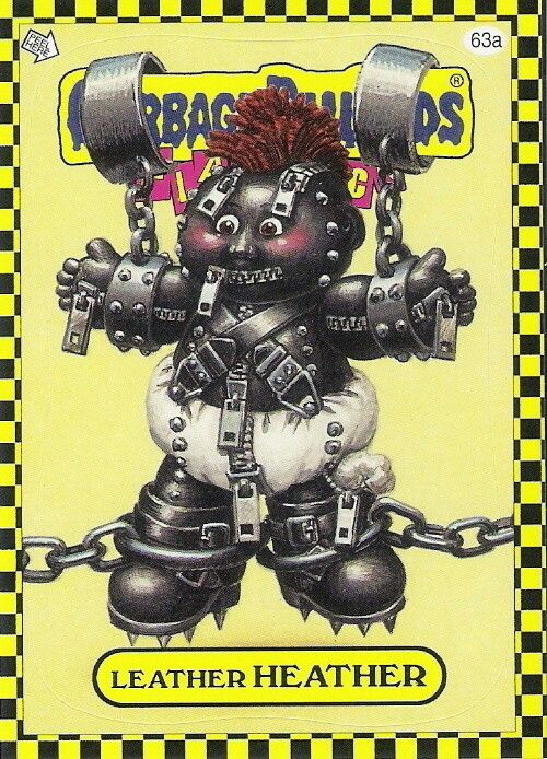 Leather Heather Garbage Pail Kids Cards Garbage Pail Kids Kids Cards