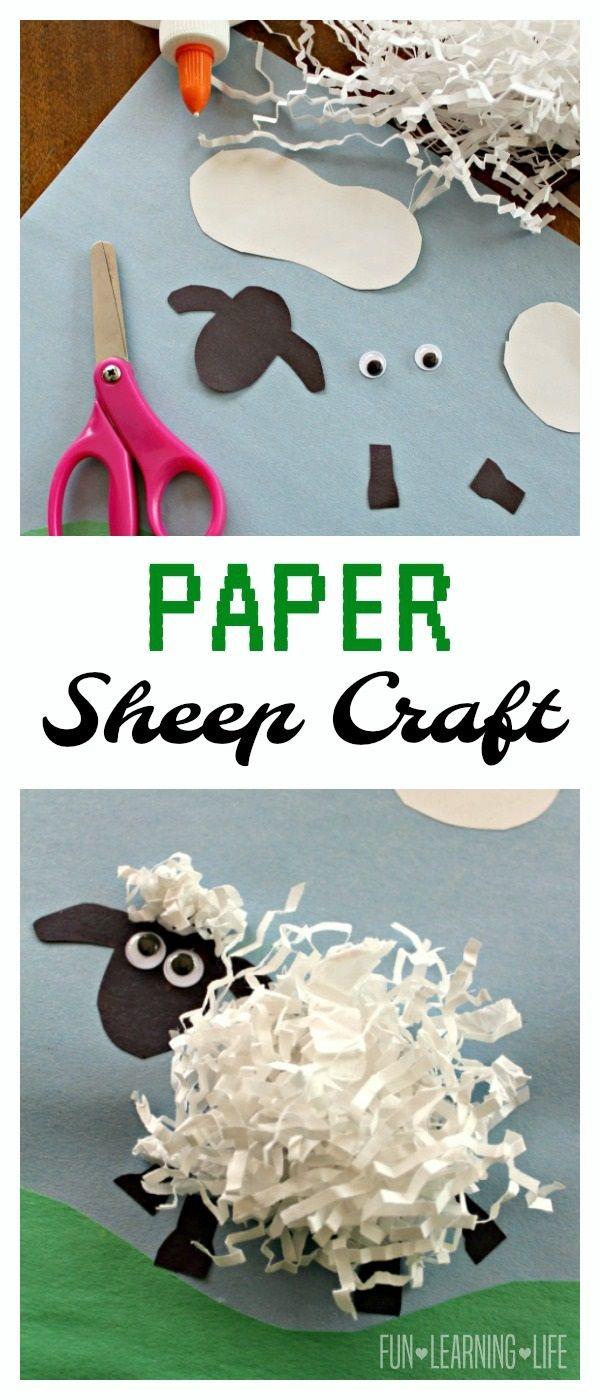 cardboard sheep template - paper sheep craft inspired by shaun the sheep animal