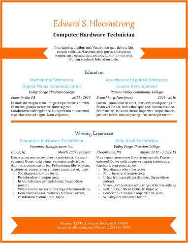 Orange Chevron  Read My Resume    Orange Chevron