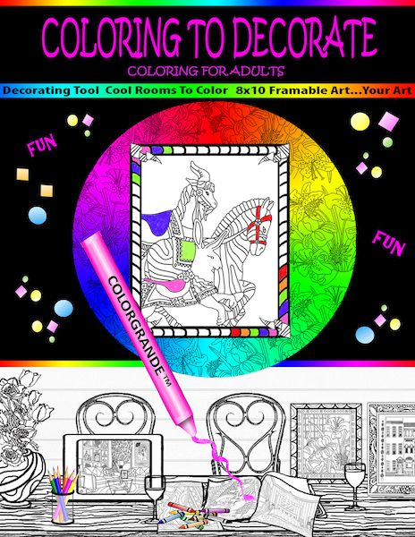 New Coloring Book Features Artistic Designs Printed On One Side Of Paper Only For Coloring Framing And Decorating Solutions Color Meanings Affordable Decor