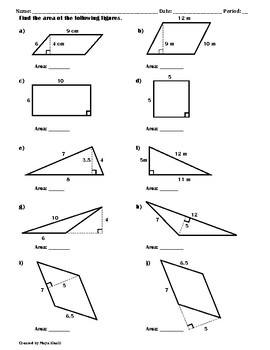 Finding The Area Of Polygons Worksheet Ii Worksheets Polygon