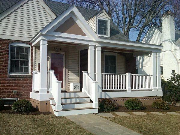 Adding Front Porch To Small Cape Cod House Google Search Front Porch Remodel Porch Remodel Front Porch Design