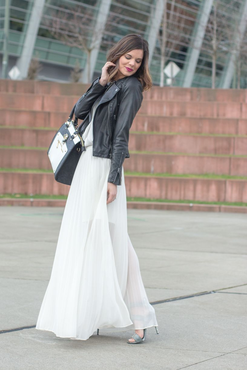 Long white dress with jacket
