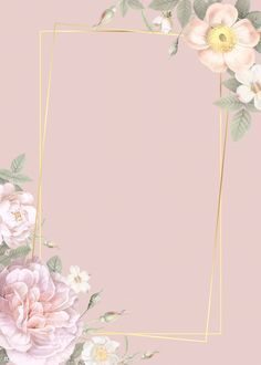 Download premium illustration of Hand drawn floral rectangle gold frame