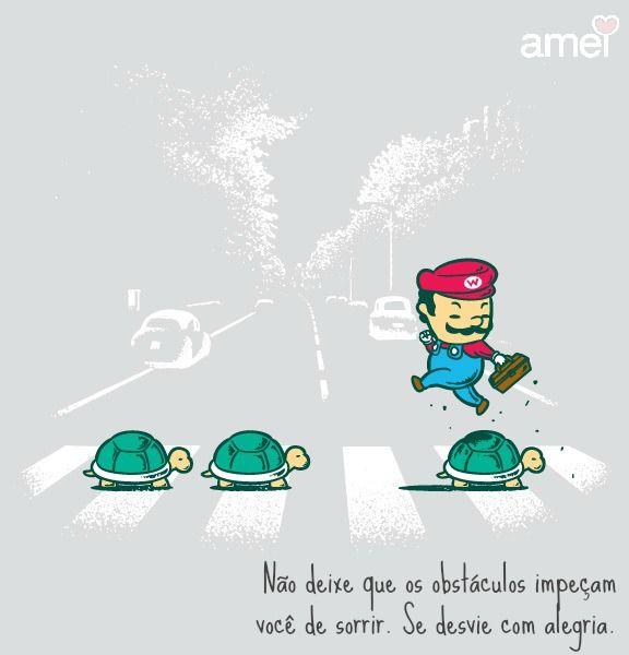 Pule as tartarugas  Bom dia. ❤ #lojaamei #bomdia #supermario #tartarugas #obstaculos #sorria
