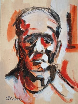 Where ART Lives Gallery Artists Group Blog: Sad Sack-Contemporary Portrait Painting by Arizona Artist, Sharon Sieben