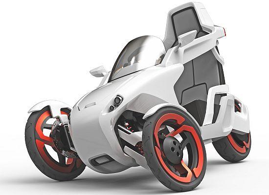 P.I.E.T concept electric trike for a modern-living urban inhabitant
