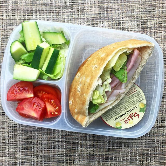 Quick and easy lunch idea! pita sandwich packed for lunch. h images