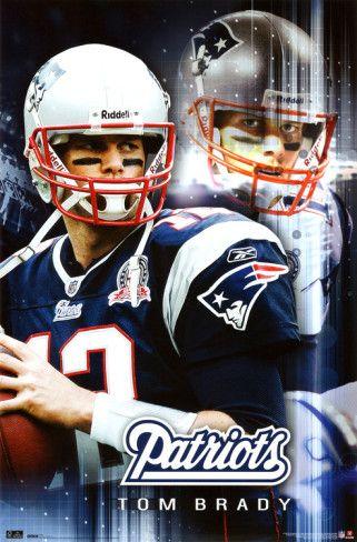 New England Patriots Tom Brady Sports Poster Print Posters Allposters Com New England Patriots New England Patriots Football Patriots