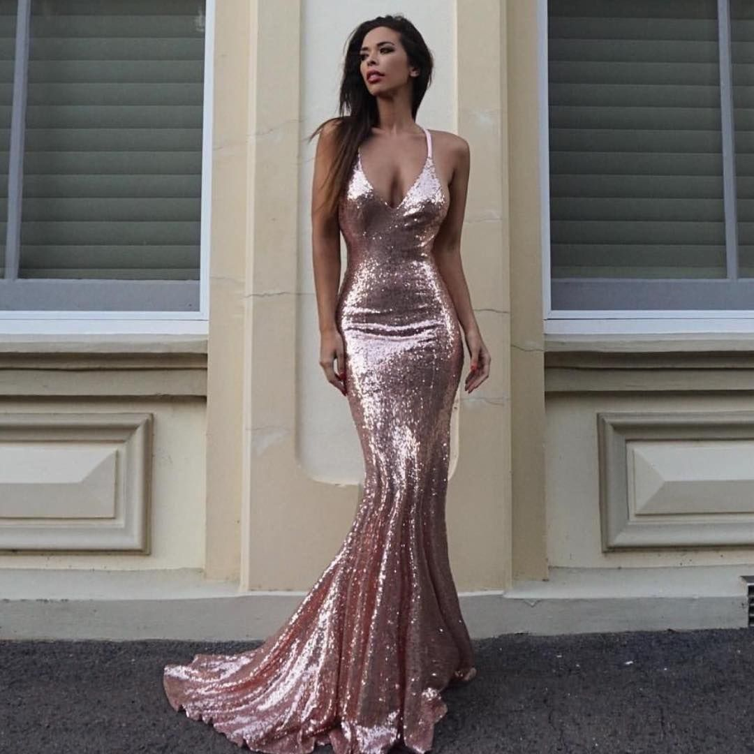 Estelle\' gown by @noodzboutique ✨#rosegold #obsessed | Follow ...