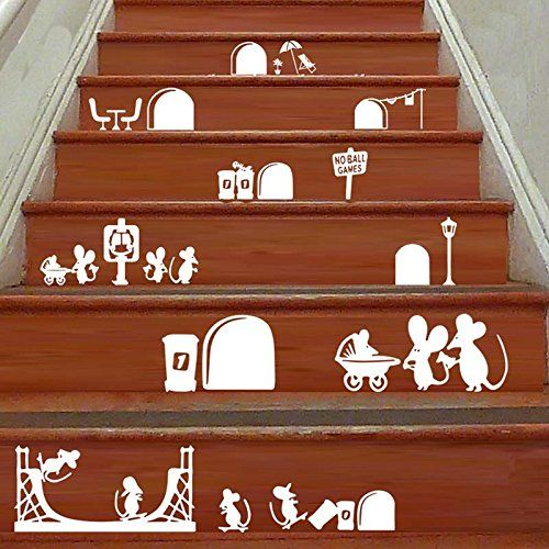 2016 New Cartoon Mouse Stair Steps Sticker Removable Wall Sticker Home Decor Deroration Wallpaper - This item is2016 New Cartoon Mouse Stair Steps Sticker Removable Wall Sticker Home Decor Deroration Wallpaper, It is also a best gift for your families, colleagues, friends!.