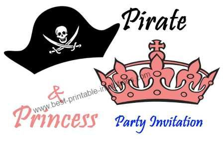 Free printable princess and pirate party invitation party free printable princess and pirate party invitation filmwisefo Choice Image