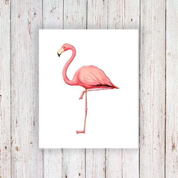 Flamingo temporary tattoo
