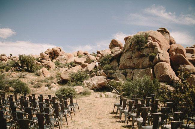 Joshua Tree Wedding At The Ruin Venue Krystal Josh Ceremony