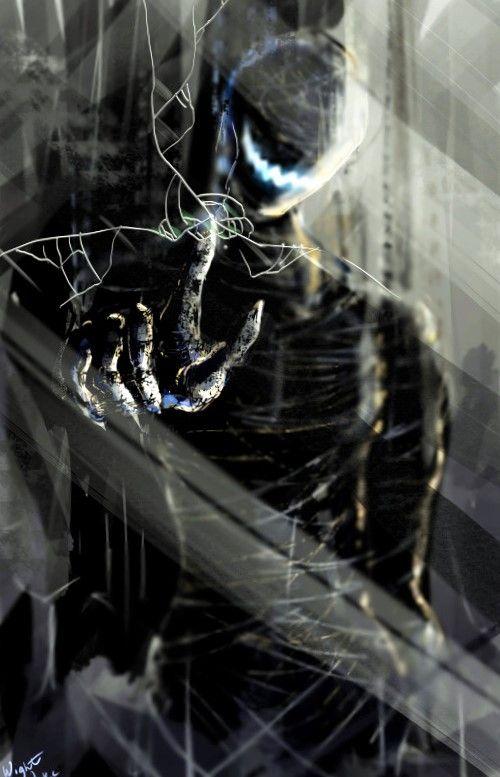 リアリティある黒い幽霊の亜人の壁紙