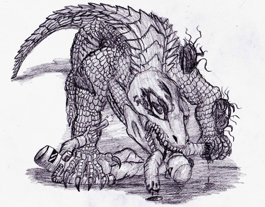 Scp 682 Not Destroyed Yet By Stalc On Deviantart Scp Scp Scp