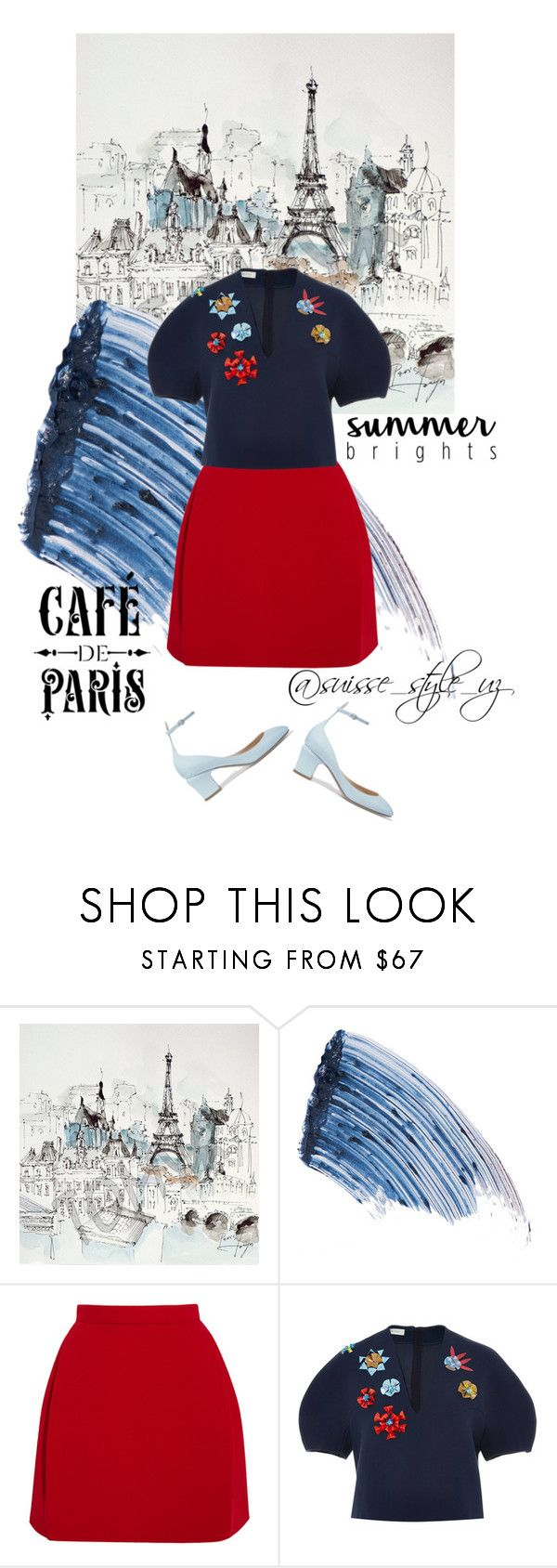 """""""✔️"""" by komilash ❤ liked on Polyvore featuring Sisley - Paris, Delpozo, Valentino, topsets, topset and summerbrights"""