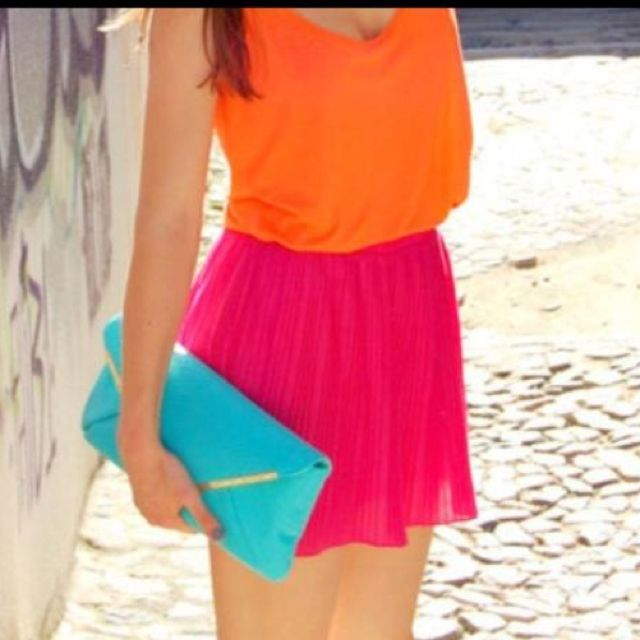 Summer color block .