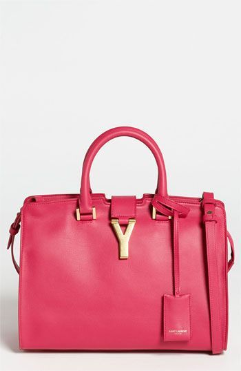Saint Laurent Pee Ligne Y Leather Tote Small Available At Nordstrom Gorgeous Handbags Pinterest Pink Paris And