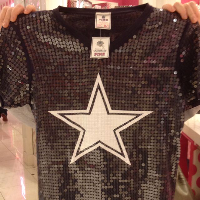 All sequin Dallas cowboy shirt Yes