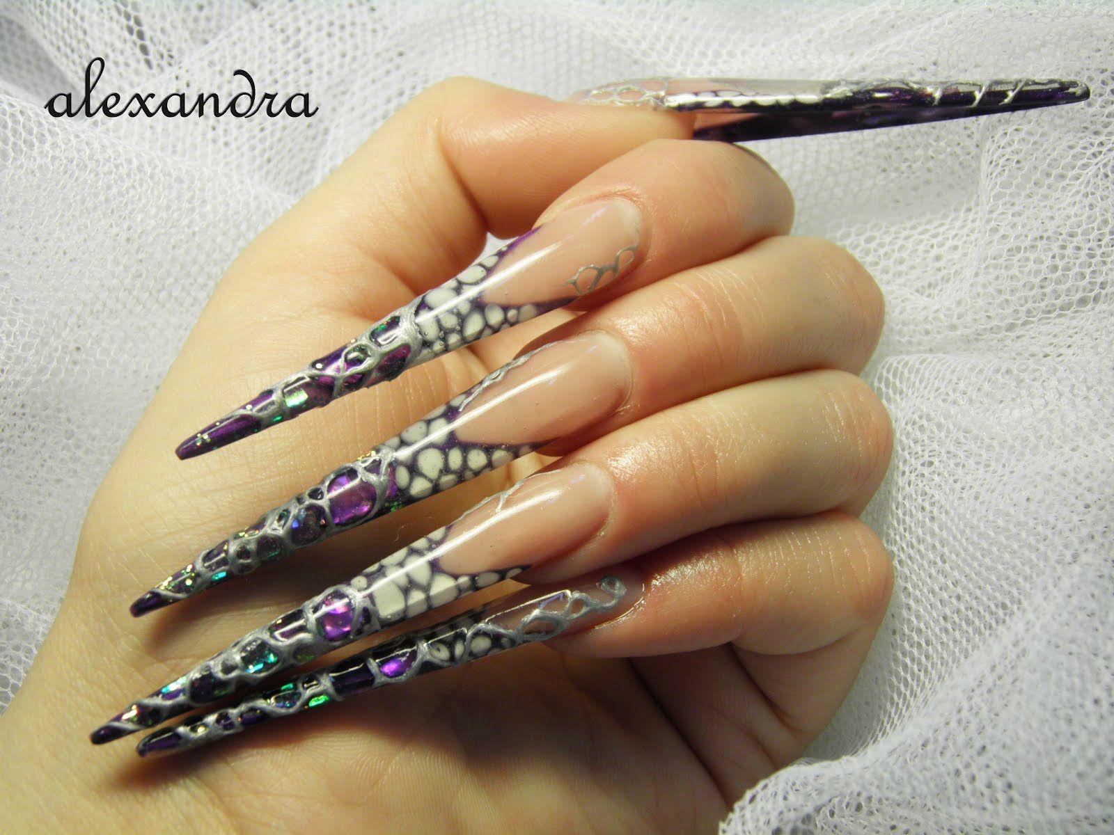 stiletto nails | stiletto-nails-gems | nail art frenzy