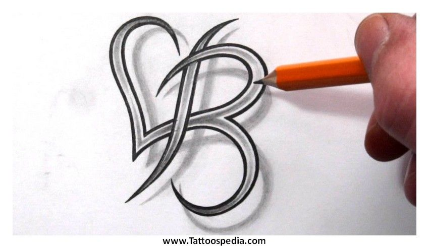letter b tattoos designs 5