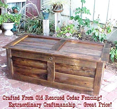 CEDAR CHEST / Coffee TABLE   Crafted From Fencing / Siding Grade Cedar ( 0  Shipping Up Front )( 30   45 Plus Day Wait)   Contact 4 Details.
