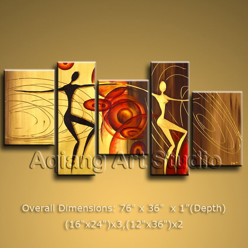 Modern Contemporary Abstract Oil Painting Large Wall Art Canvas ...