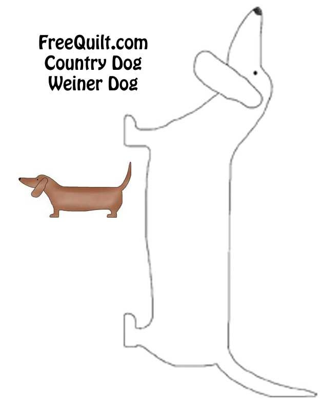 Country Dog Quilt Weiner Dog pattern | Dog Templates and Patterns ...