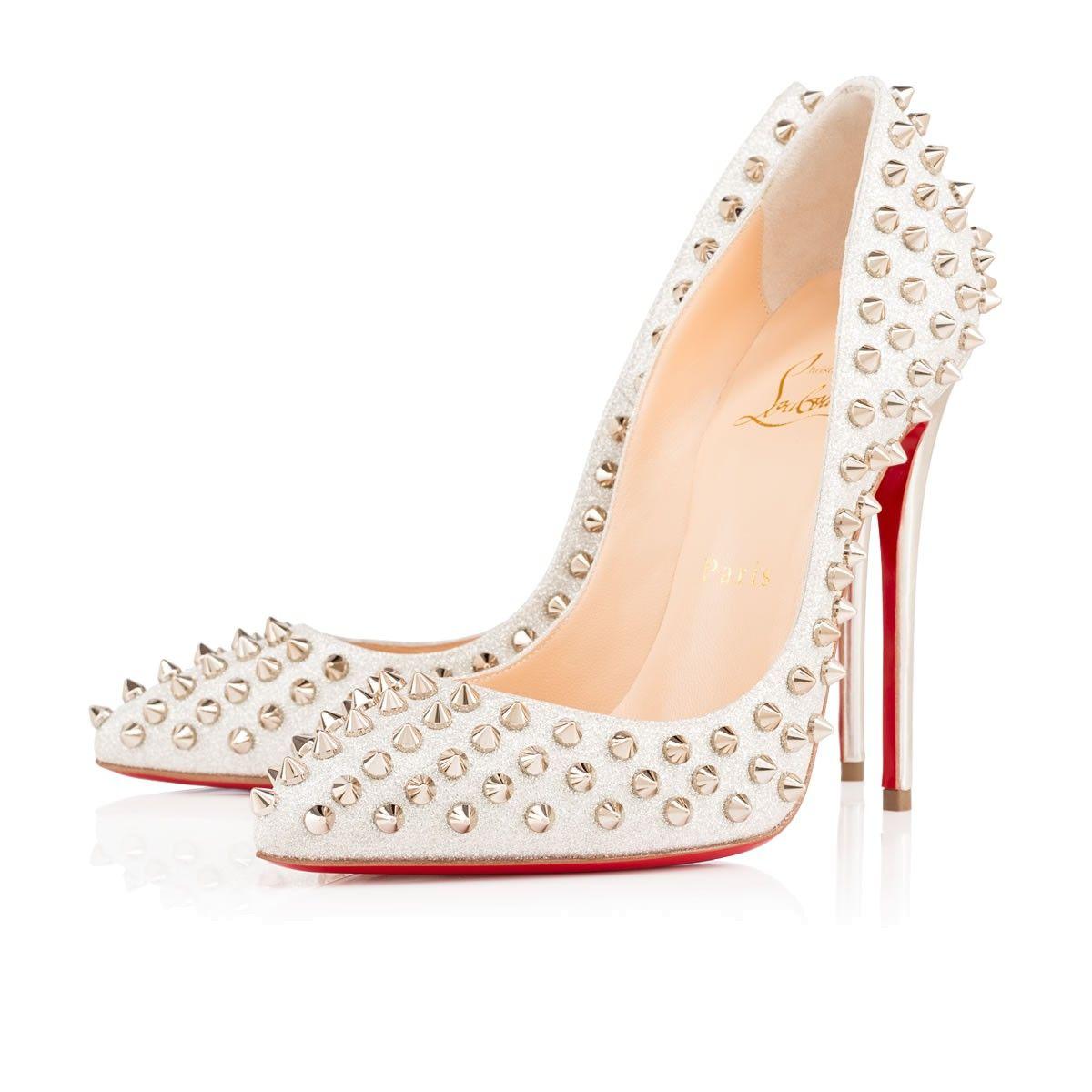 Women Shoes - Follies Spikes Glitter Mini - Christian Louboutin