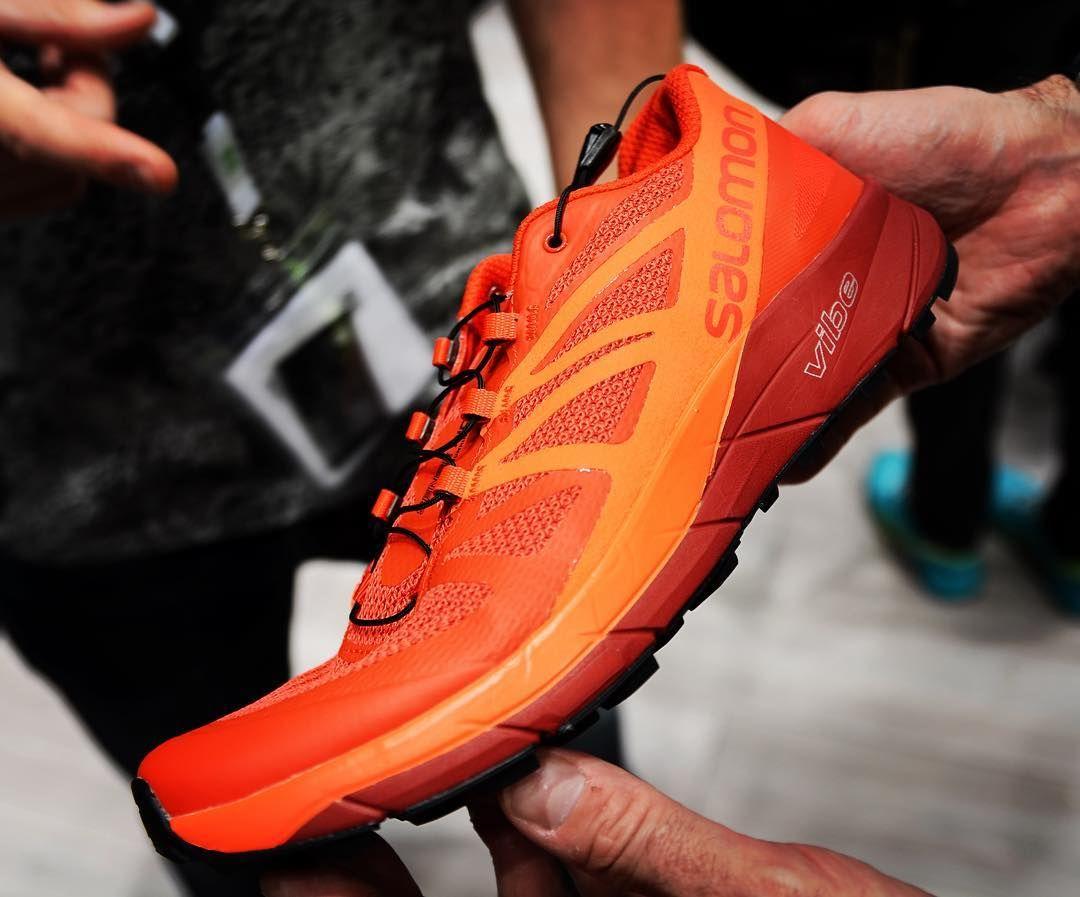 The Salomon 'Sense Ride' trail running shoes. The innovative
