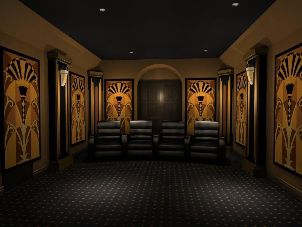 Art Deco Theater Home Design