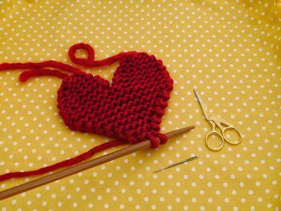 Knitted Heart Pattern Knitting Crochet Blankets Pinterest