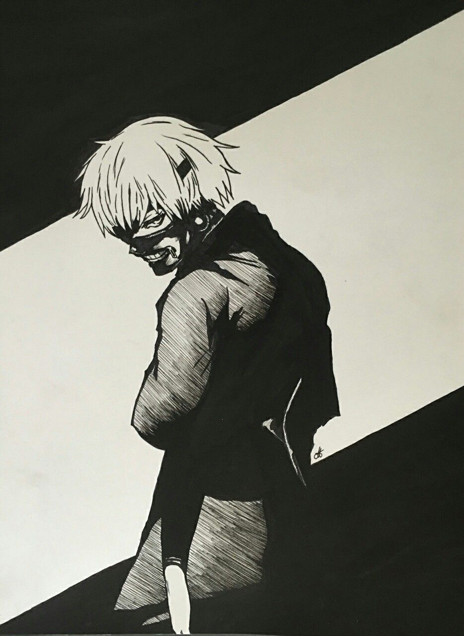 Scary face kaneki anime artwork kaneki tokyo ghoul scary artworks