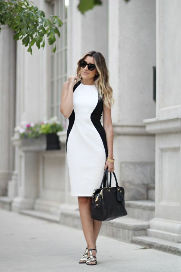 Kleider kurz schwarz weib